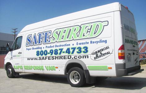 SafeShred Fleet Van